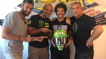Moto2: A tropical helmet for Morbidelli in Misano