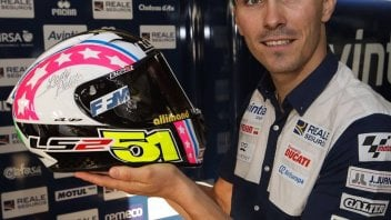MotoGP: Loris Baz with Alessia Polita's helmet