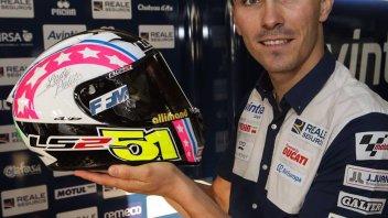 MotoGP: Loris Baz con il casco di Alessia Polita