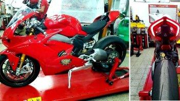 News Prodotto: Ducati Panigale V4 S: nuove foto confermano la linea