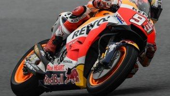 MotoGP: Marquez si prende il warm up, 2° Espargarò su Aprilia