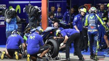 MotoGP: Rossi: le slick? l'unico azzardo possibile