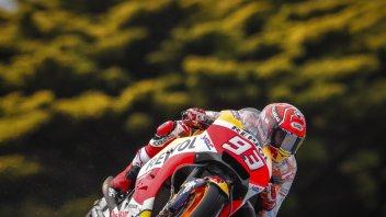 MotoGP: FP3: Marquez primo sul bagnato, 8° Dovizioso