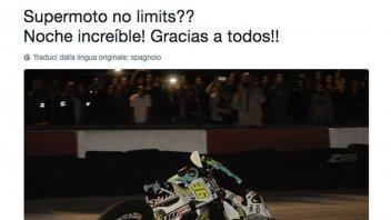 Moto3: Mir in piega col Supermotard tocca anche la testa