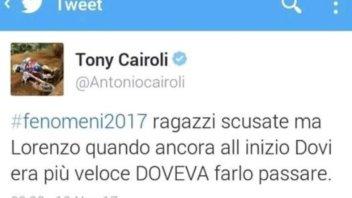"MotoGP: Tony Cairoli contro Jorge Lorenzo: ""Doveva far passare Dovi"""