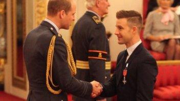 SBK: Lord Rea alla corte di Buckingham Palace