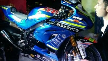 SBK: Rolfo unveils the new Suzuki Grillini