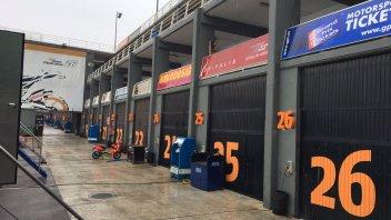 Moto2: Pioggia e vento rovinano i test di Valencia