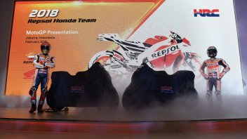 MotoGP: VIDEO. The unveiling of the new Honda of Marquez and Pedrosa
