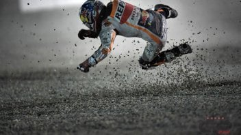 MotoGP: Dani Pedrosa, what a crash at Losail!