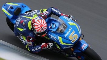 Zarco and Folger at Sepang with Rossi and Viñales