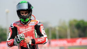 SBK: Laverty, che spavento! Investito come Simoncelli