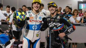 Moto2: Baldassarri-Bagnaia: sfida in casa su Sky Sport