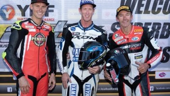 SBK: Bayliss on the Australian podium at 49