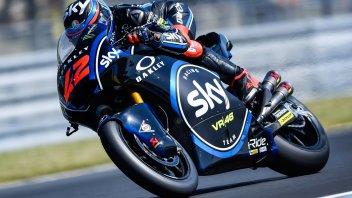 Moto2: Bagnaia re di Le Mans, a terra Baldassarri