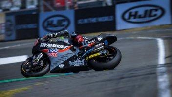 Moto2: FP1: Schrotter sorprende a Le Mans, Bagnaia 8° con caduta