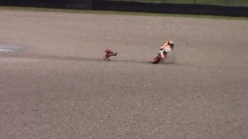 MotoGP: VIDEO. The Marquez's crash at the Mugello test
