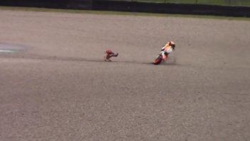 MotoGP: VIDEO. La caduta di Marquez nei test del Mugello