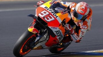 MotoGP: Marquez fa il vuoto nel warmup, 2° Dovizioso, 5° Rossi