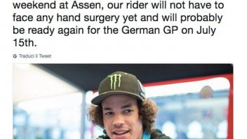 MotoGP: Morbidelli won't undergo surgery, the Sachsenring looking likely