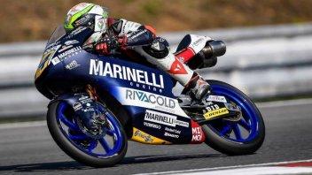 Moto3: FP2, Tris tricolore: 1° Arbolino, 2° Bezzecchi, 3° Antonelli