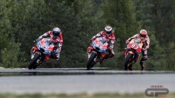 MotoGP: Pianeta Rosso: Dovizioso e Lorenzo piegano Marquez, Rossi 4°