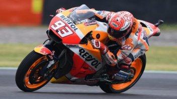 MotoGP: FP2: Marquez irrompe sul bagnato e mette in riga le Ducati