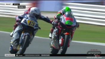 Moto2: PHOTO: Fenati's mad gesture in Misano
