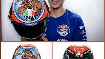 Moto3: Bezzecchi: un casco per l'amico Toccaceli