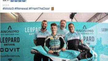 Moto3: Lorenzo Dalla Porta con Leopard anche nel 2019