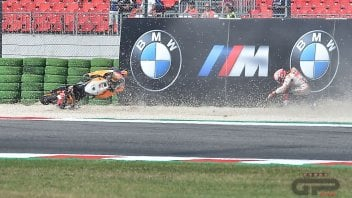 MotoGP: Fotosequence: the crash of Marc Marquez in Misano