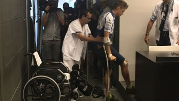 "MotoGP: Rabat: ""avevo la gamba storta, sembrava una S"""