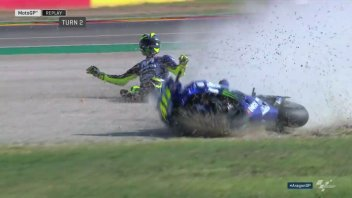MotoGP: The sequence of the Valentino Rossi crash in Aragon