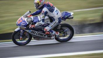 Moto3: FP3: Di Giannantonio svetta sul bagnato, 4° Arbolino