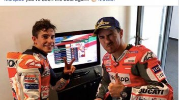 MotoGP: Lorenzo: Marquez, at time we don't agree but you were the strongest