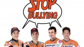 MotoGP: Marquez e Pedrosa nelle scuole contro il bullismo