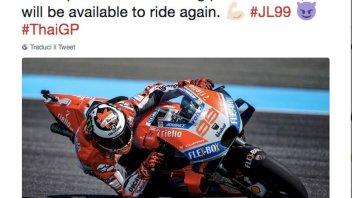 "MotoGP: Lorenzo: ""Sento dolore ma correrò a Buriram"""