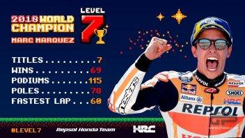 "MotoGP: Marquez ""plays"" with the MotoGP: 7th level achieved"