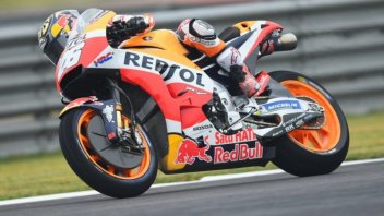 MotoGP: FP2: Dovizioso and Marquez in the garage, Pedrosa 1st