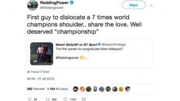 """MotoGP: Redding: """"Sono il primo ad aver slogato la spalla di un 7 volte campione"""""""