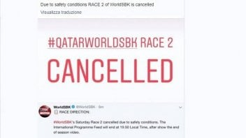 SBK: Losail: cancellata Gara 2 per motivi di sicurezza