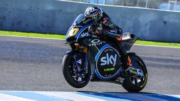Moto2: Pioggia a Jerez, resta di Marini il miglior crono
