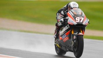 Moto2: FP3: Vierge irrompe sul bagnato, 9° Baldassarri