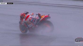 MotoGP: La caduta di Marquez nel GP di Valencia