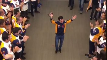 MotoGP: The Repsol Honda team pays tribute to Pedrosa