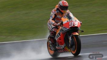 MotoGP: FP1: Marquez più forte delle Ducati anche sul bagnato