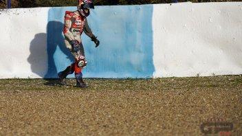 """MotoGP: Dovizioso: """"Gran botta alla mano, domani deciderò se continuare"""""""