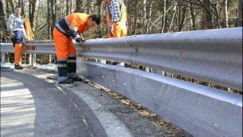 Moto - News: Guardrail salva-motociclisti: tutto fermo