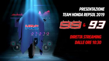 MotoGP: Marquez e Lorenzo svelano i colori Honda 2019 in diretta