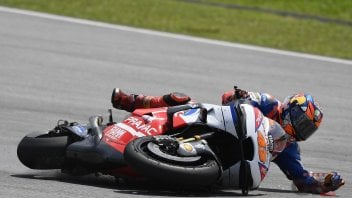 MotoGP: THE PHOTOS: Miller's fall during Sepang tests